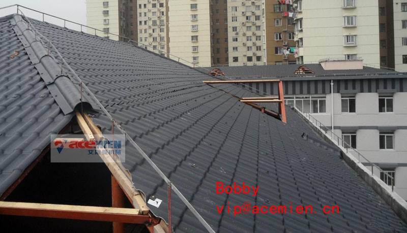 Replace metal sheet-Glazed Tile Roof Roll Forming Machine for Customized Plastic Colorful
