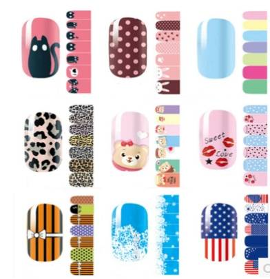 Decorative lovely nail sticker non toxic for women
