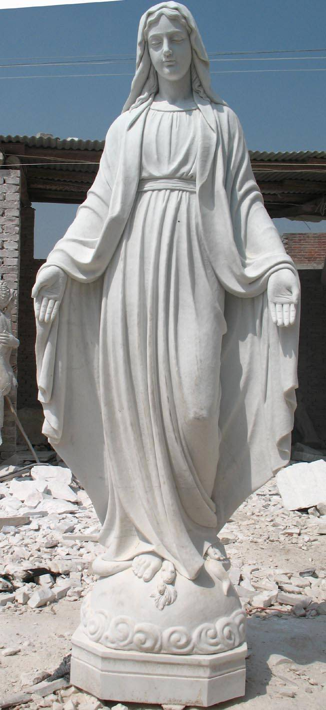 Western Marble Virgin Mary Sculpture Quyang Changfeng