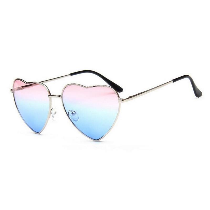 Unisex Style Classic Vintage Heart Shape Creative Sunglasses