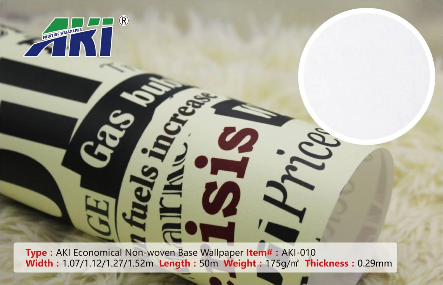 Wall Paper for Room AKI 010 Economical Non-Woven Digital PVC Texture Printable Wallpaper