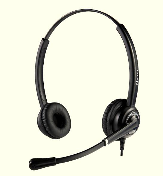 Wired Noise cancelling telephone headset call center headset