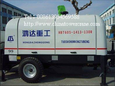 HBT60S1413-130R trailer concrete pump