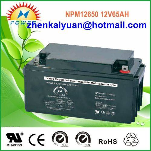 lead acid /sealed /ups/solar/ battery12V65Ah
