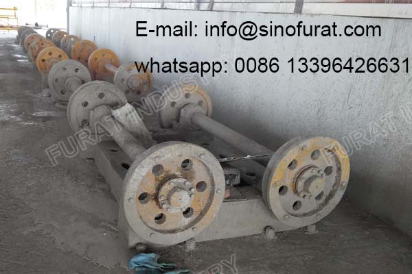 Automatic Concrete Electric Pole Spinning Machine
