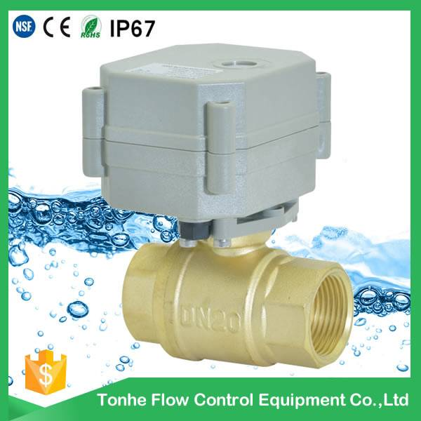 "2016 hot sale DN20 NSF61 IP67 5V electric operated valve 3/4"" (T20-B2-B)"