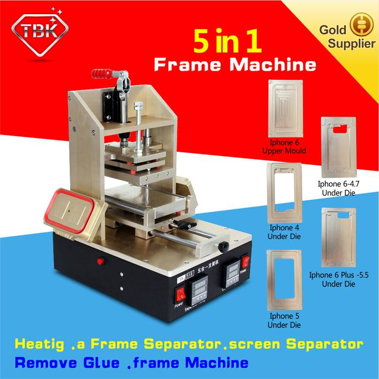 5 in 1 Multifunction Bezel Middle Frame Separator Machine + Vacuum LCD Separator +LCD Glue Remover