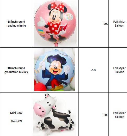 Cartoon & Character & Animal Helium Foil Mylar Balloons