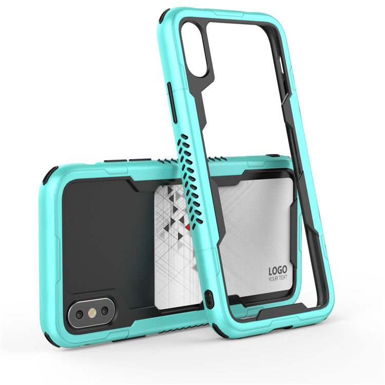2018 Newest For iphone x case tpu bumper hybrid dual layer Phone Case with Cards Slot