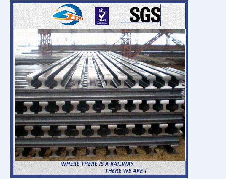 ZhongYue 12m Railway Steel Railroad Steel Rail QU70 QU80 YB / T5055-93