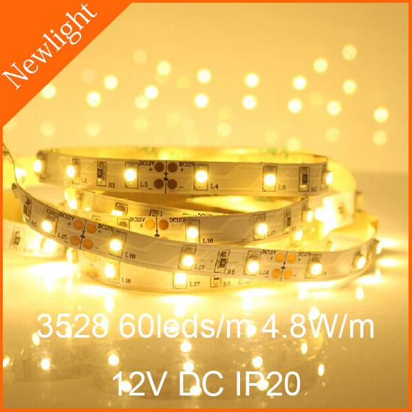 Epistar SMD3528 Flexible LED Strip Light 4.8W/m 12V DC IP20 nonwaterproof