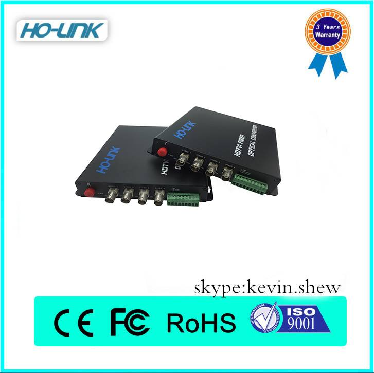 4K SDI/3G SDI/HD SDI/TVI/CVI/AHD over fiber optical converter transmitter receiver