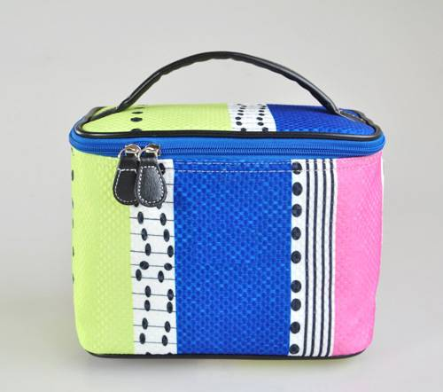 RT cotton stripe -6 cosmetic bag