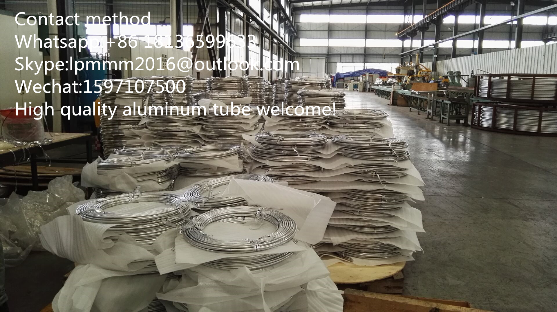 HVAC Aluminum Tube (1050-3030) Extrude Tube/Drawn Tube/Air Condition Part/Aluminum Tube for Refriger