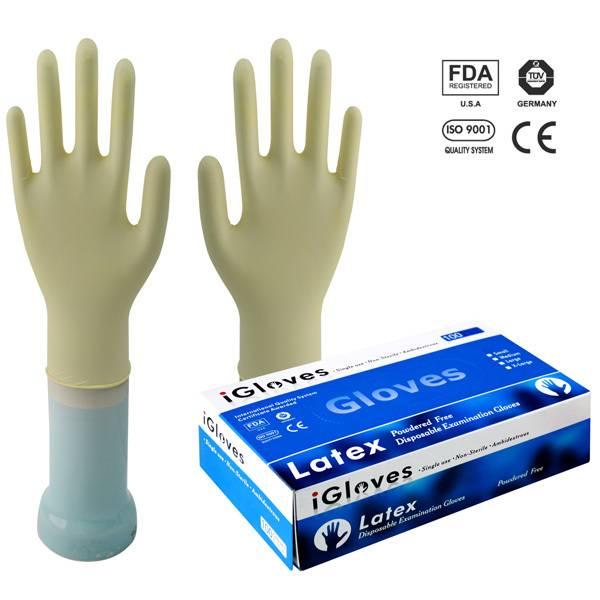 latex powdered glove