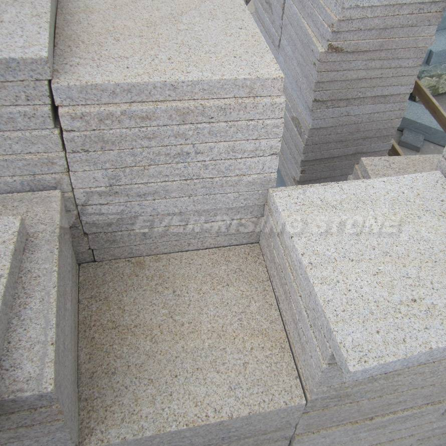 China Beige Granite Tile-Pavers-Bush Hammered- Flamed