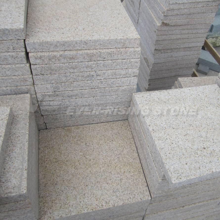 China Beige Granite Tile-Pavers-Bush Hammered- Flamed
