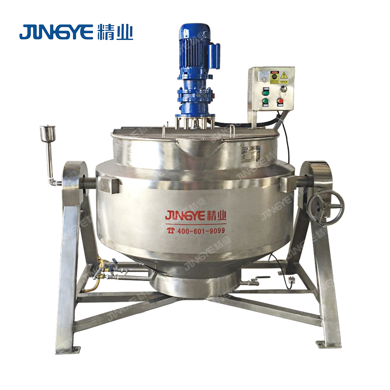 Sauce Cooking Jacketed Kettle Mixer With Electric Heating