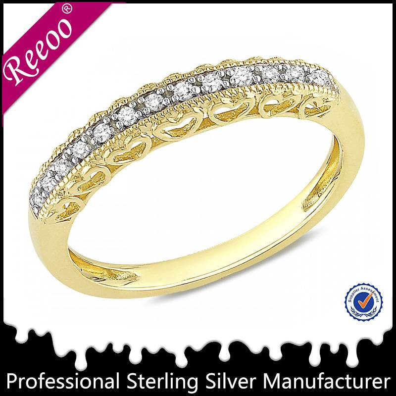 Simple gold plated ring designs good quality jewelry