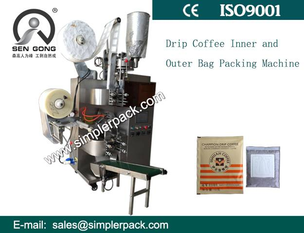 Italian Espresso Drip Coffee Packaging Machine with Outer Envelope