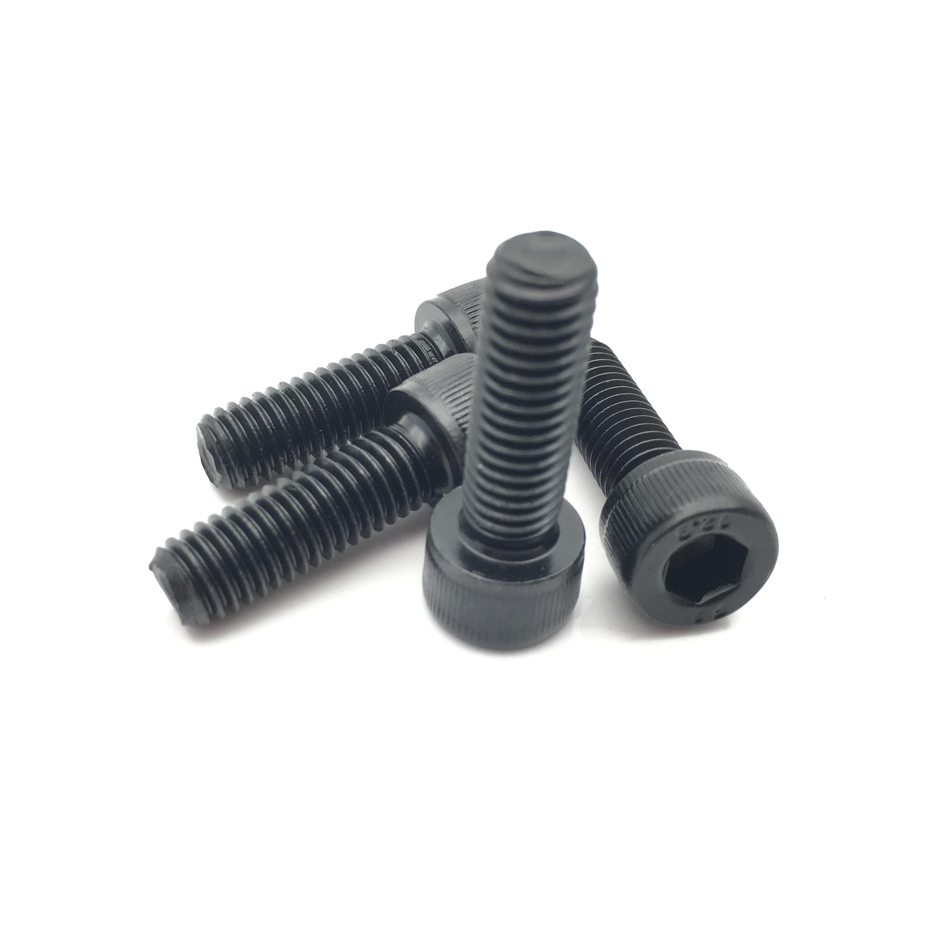 Alloy steel gr12.9 allen socket cap hex bolt DIN912 black oxide
