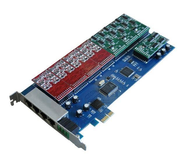 SinoV-TDM1600E 16 fxs/fxo pci-e asterisk card for voip ippbx