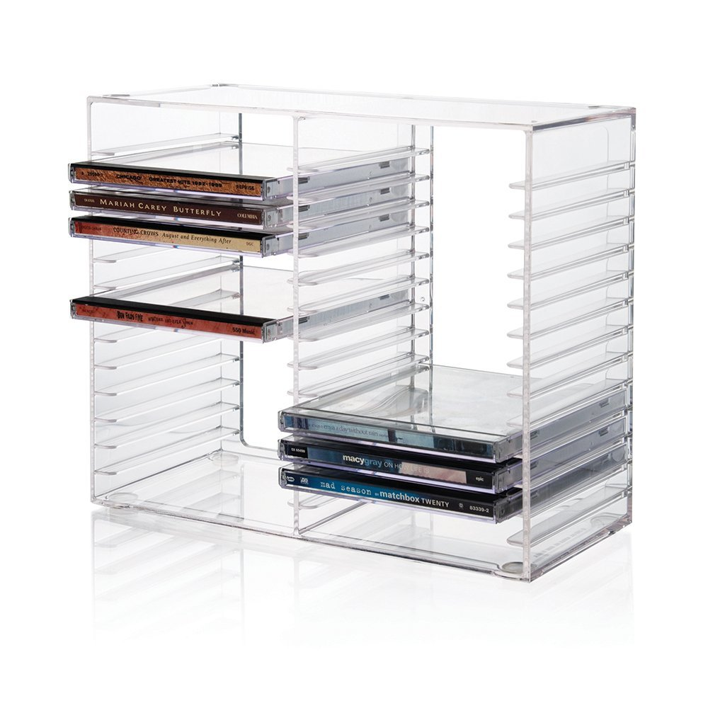 Factory Customized Modern Design Stackable Standard CD Jewel Cases Clear Acrylic Plastic CD Holder