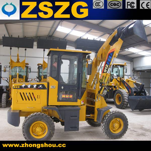 High effective 1ton front bucket loader zl12 Loaders made in china