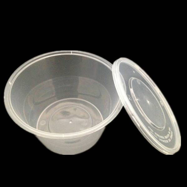 Round PP Food Container with Lid 1250ml