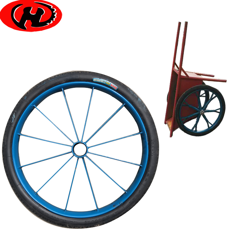 flat free rubber wheel for sand cart