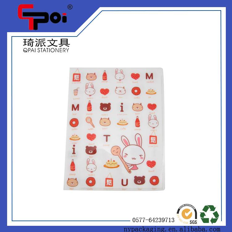 PP Stationery Supplier A4 Size Patterned Clear Book Display Book