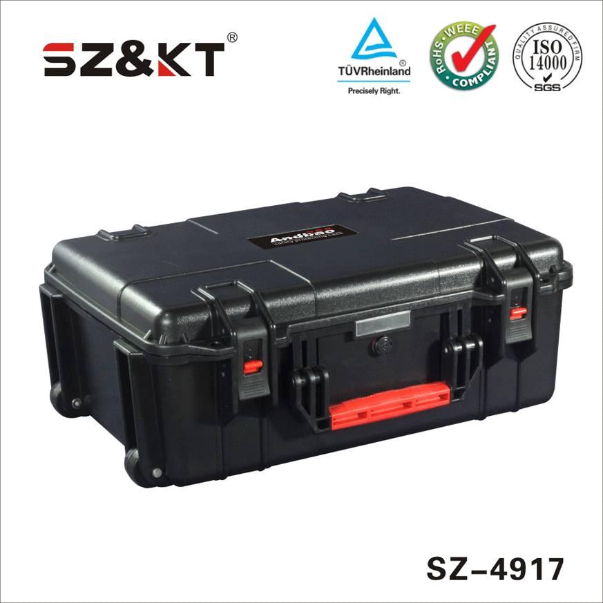 portable waterproof shockproof large foam case with wheels