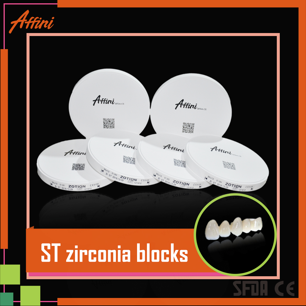 Denal lab super transparency dental product ceramic zirconia blocks