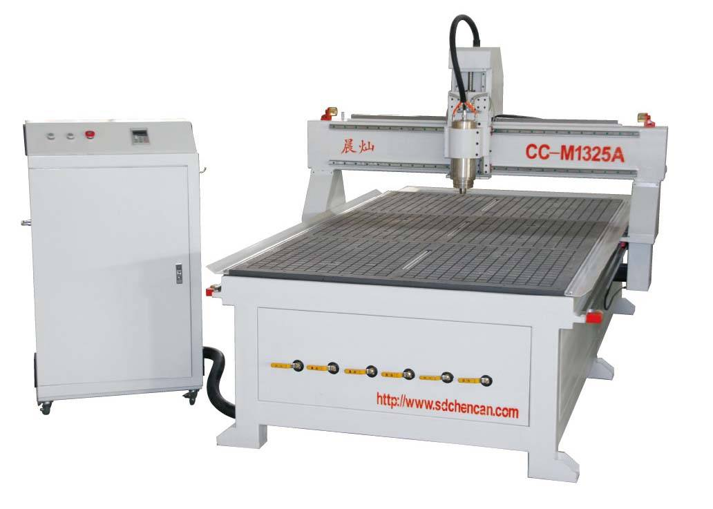 High-efficiency CNC woodworking machinery with two heads