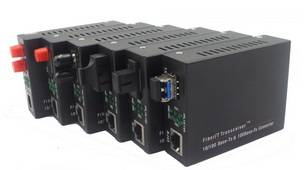 10/100 Mbps Dual Fiber Media Converter