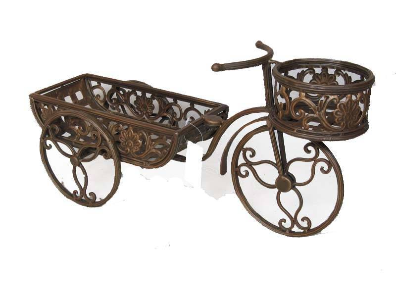 Wrought Iron Bicycle Flower Stand Holders Anxi Xinying Handicrafts