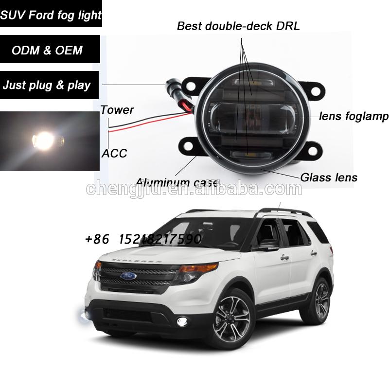 Direct manufacturer SUV 44 led fog light for Ford figo/ranger/mondeo/fusion12V led DRL car fog lamp