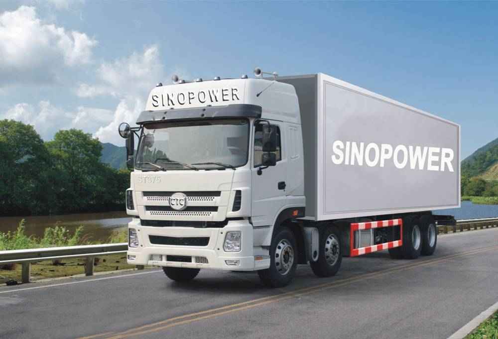 CTC SINOPOWER 8*4 cargo truck best used for sale