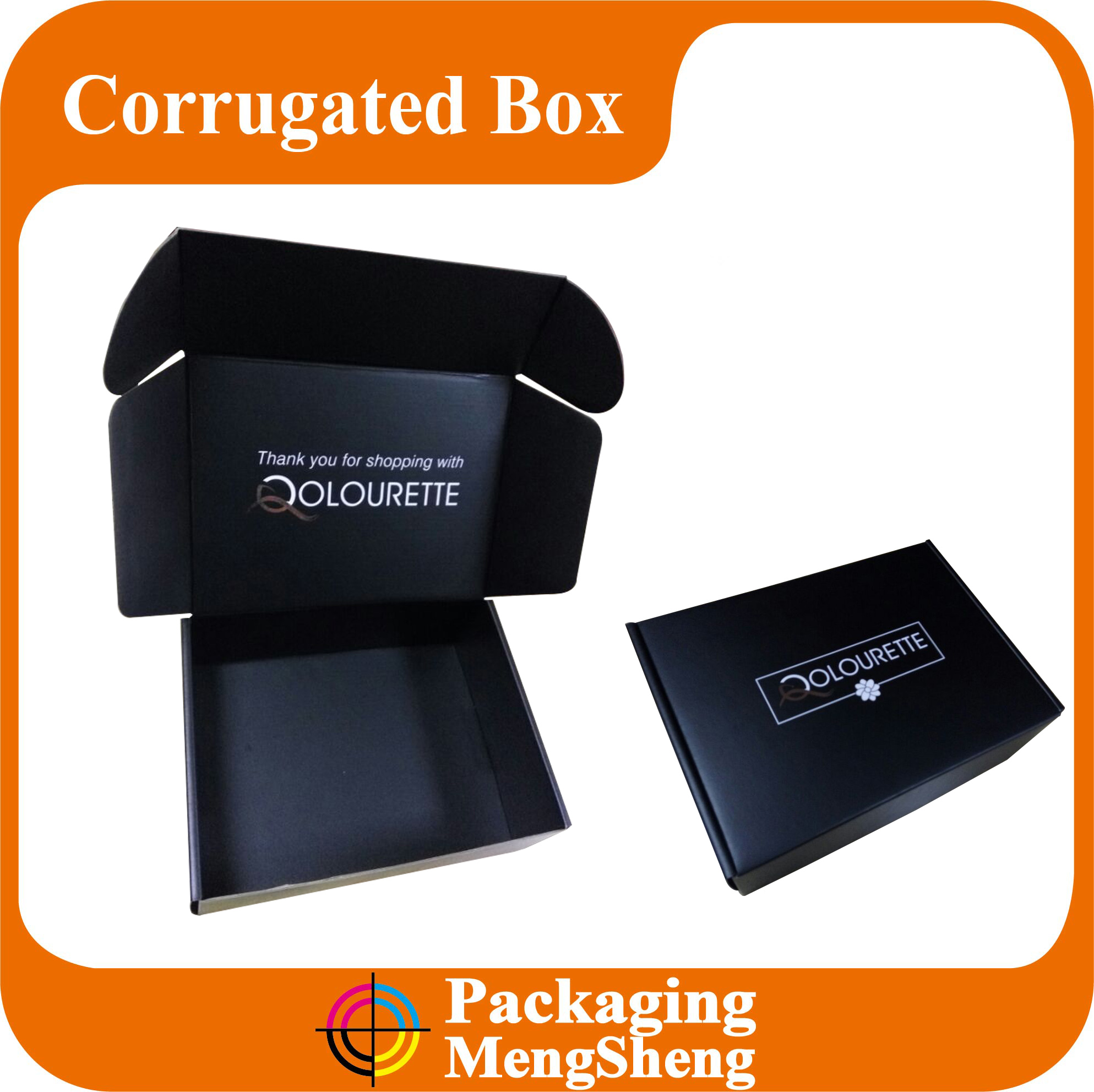 Custom mailing boxes corrugated black logo mailing box for shipping