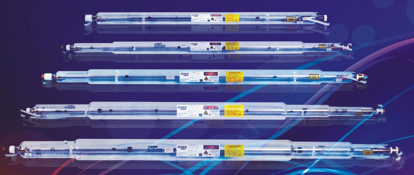 glass CO2 laser tubes 90W 110W 120W 130W 145W 150W 170W