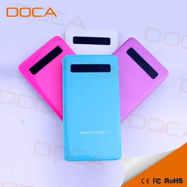 DOCA 4000mAh thinnest power bank charger for all smartphones