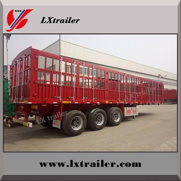 Liangxiang 2 / 3 axle platform cargo fence semi trailer