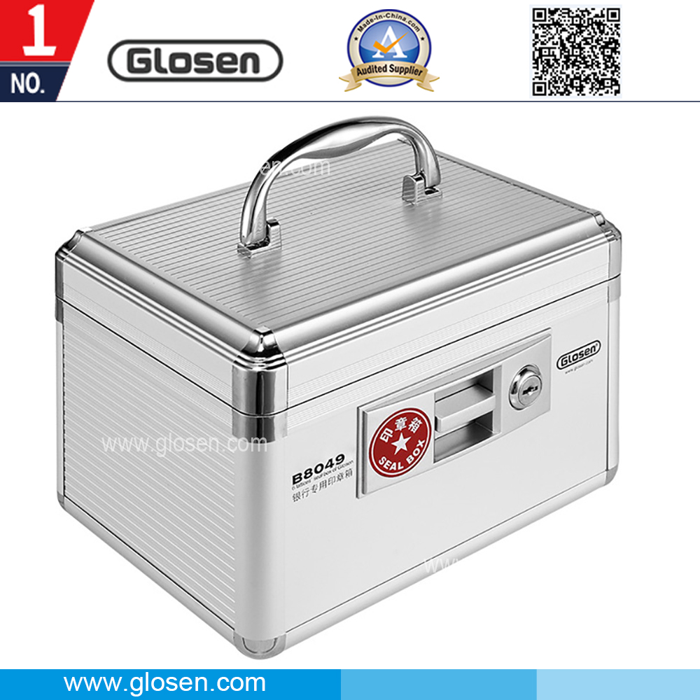 Glosen Aluminum Material Silver Color 6 Cells Seal Box with Lock B8049