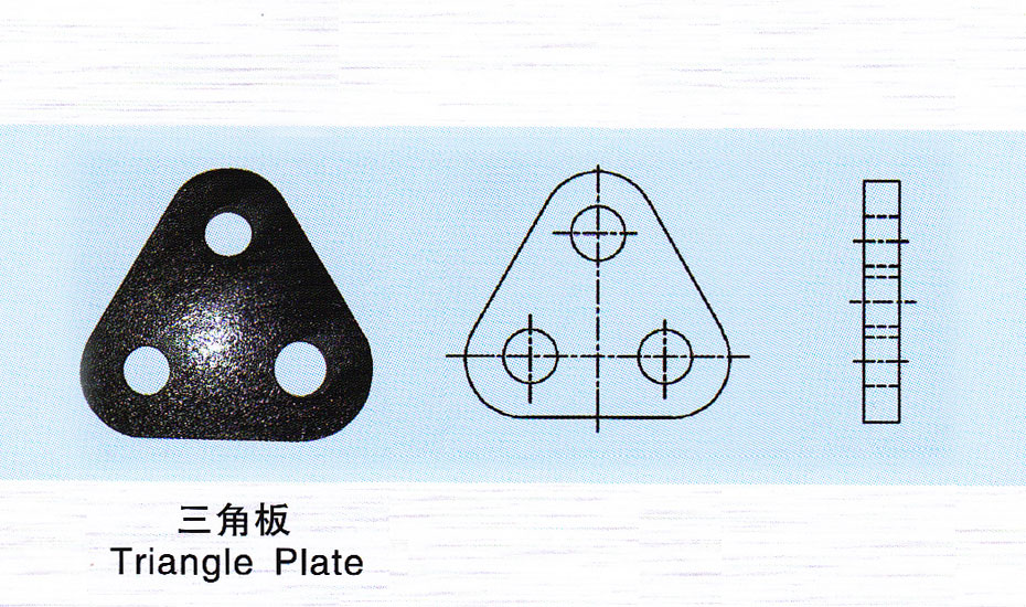 Triangle plate