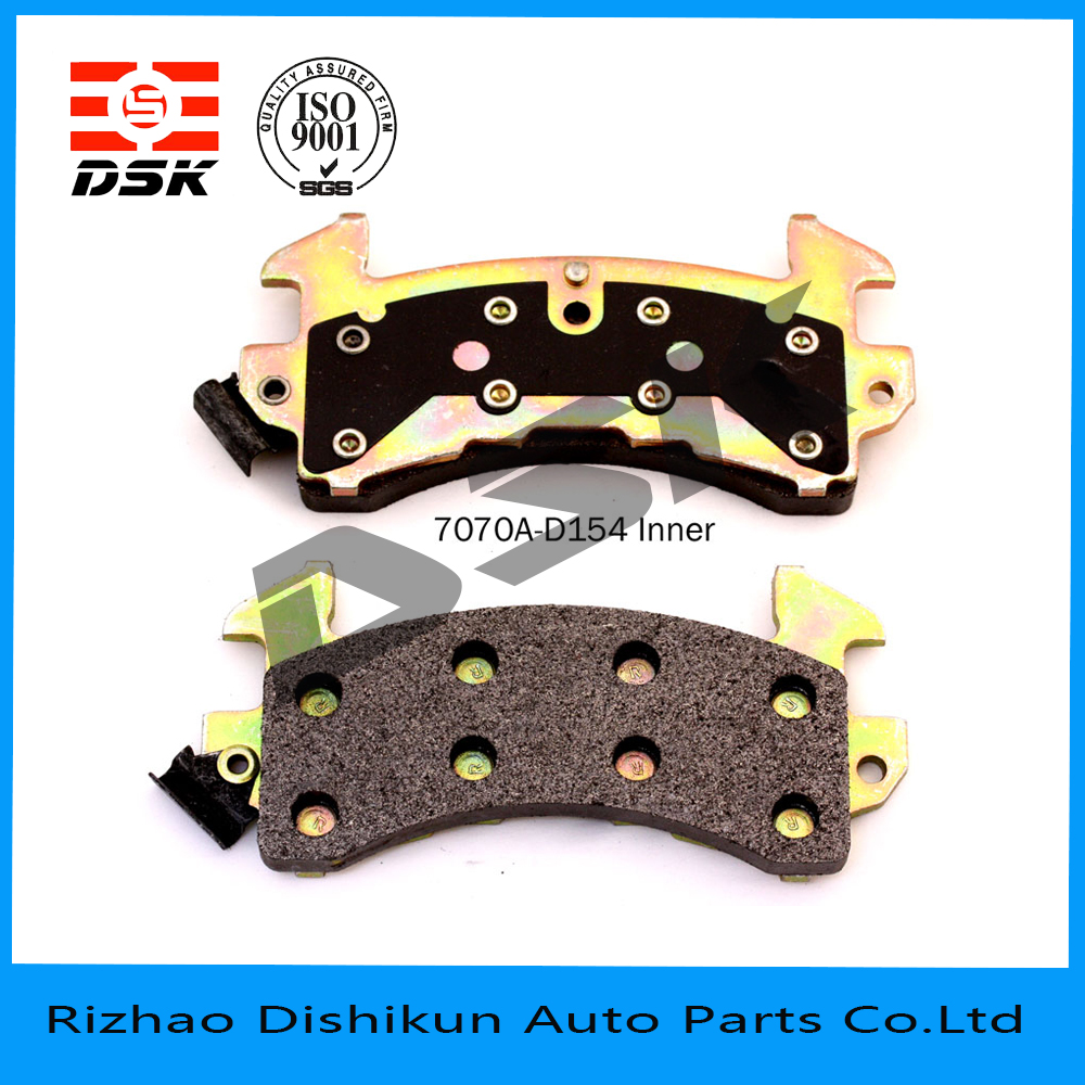 excellent quality low noise auto part brake pad 7070A-D154