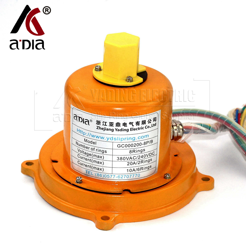 rotary drilling rig slip ring collector ring 8rings