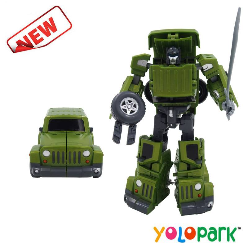 Hot sale high quality plastic deformation robot transformable car toys