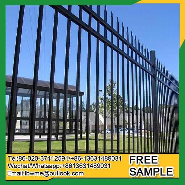 Euro style ornamental wrought iron fence