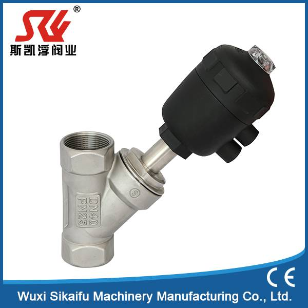 DN15 Single Acting 304 Stainless Steel Pneumatic Thread Valve