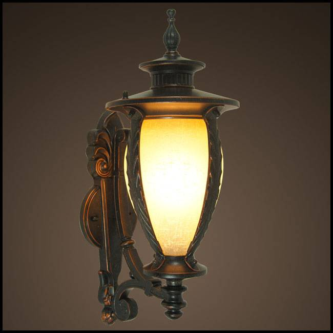 decorative garden LED outdoor wall lantern (HS0508-UP-M)